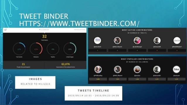 TWEET BINDER HTTPS://WWW.TWEETBINDER.COM/