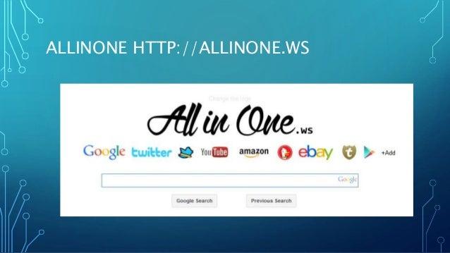 ALLINONE HTTP://ALLINONE.WS