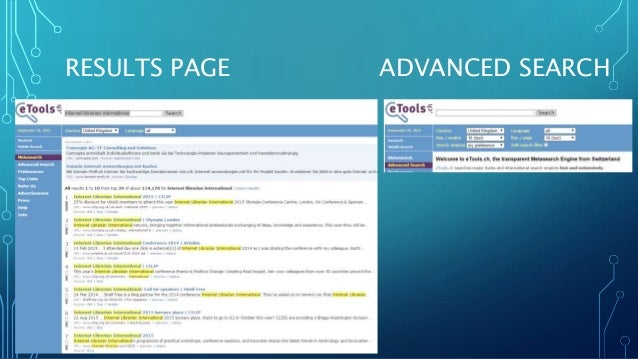 RESULTS PAGE ADVANCED SEARCH