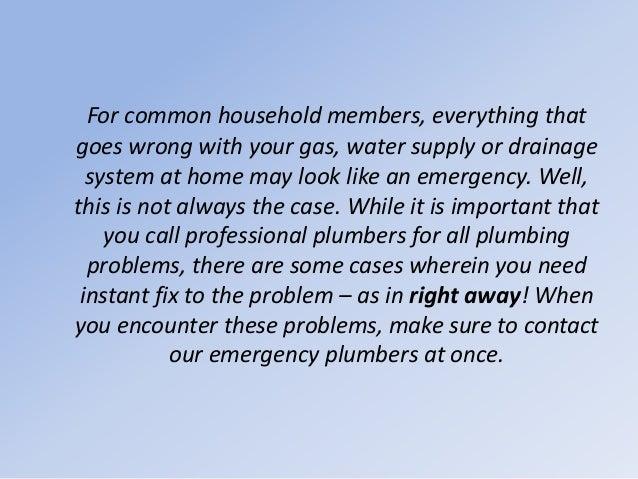What are Common Plumbing Emergencies? Slide 2