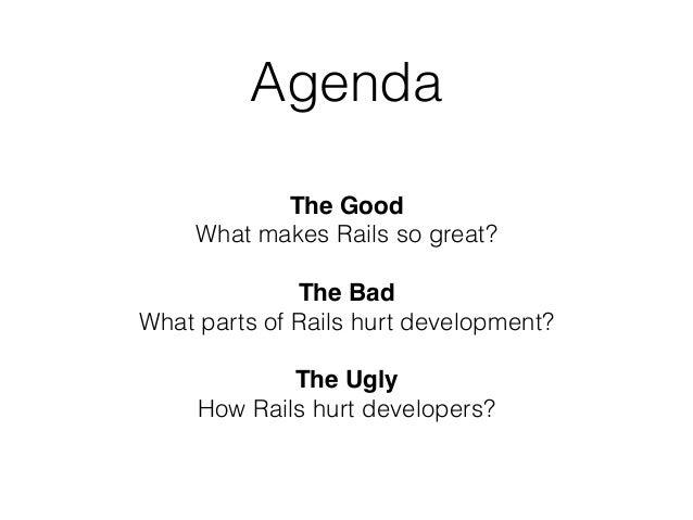What rails taught me – Eugene Pirogov Slide 3