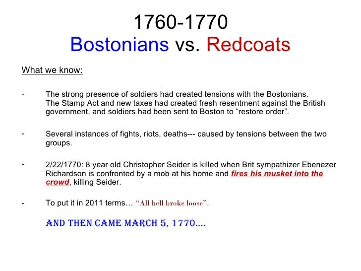 thesis about the boston massacre