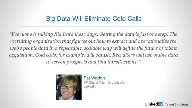 """""""Everyone is talking Big Data these days. Getting the data is just one step. Therecruiting organization that figures out h..."""
