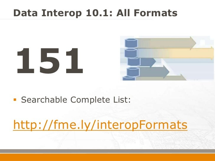 What's New in ArcGIS 10 1 Data Interoperability Extension