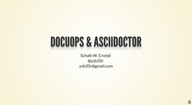 DocuOps & Asciidoctor