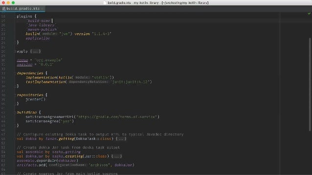 git.io/gradle-compleKon • CompleKon for tasks, flags, and common properKes • Available for bash and zsh • Kotlin build scri...