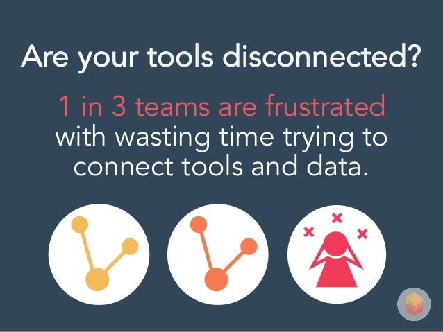 1 in 3 teams are frustrated with wasting time trying to connect tools and data. Are your tools disconnected?