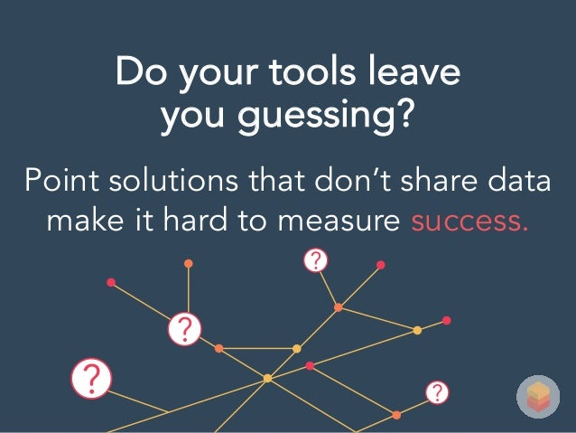 Point solutions that don't share data make it hard to measure success. Do your tools leave you guessing?