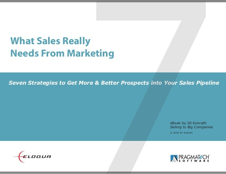 What Sales ReallyNeeds From Marketing                        7Seven Strategies to Get More & Better Prospects into Your Sa...
