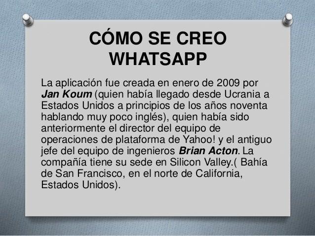 Red social whatsapp for Cuando se creo la arquitectura