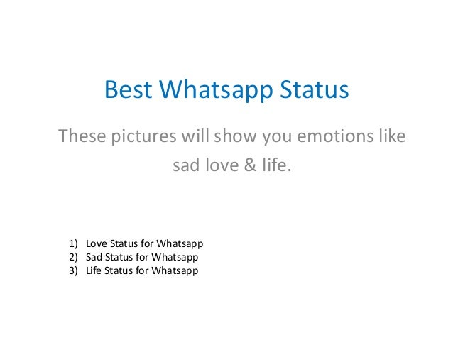 best whatsapp status about sad love life