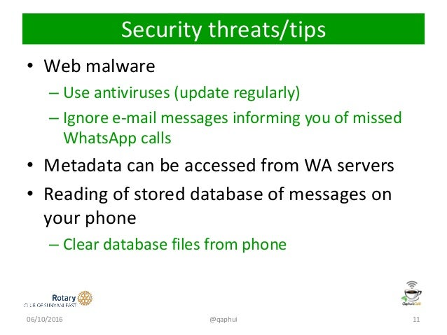 WhatsApp and its security issues