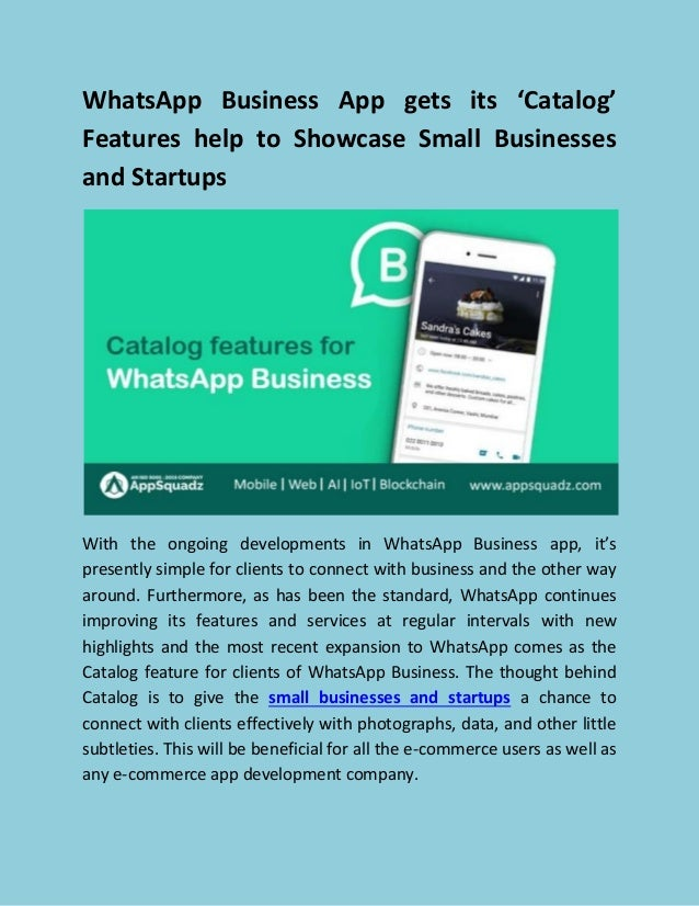 Whatsapp Business App Gets Its Catalog Features Help To Showcase Sm