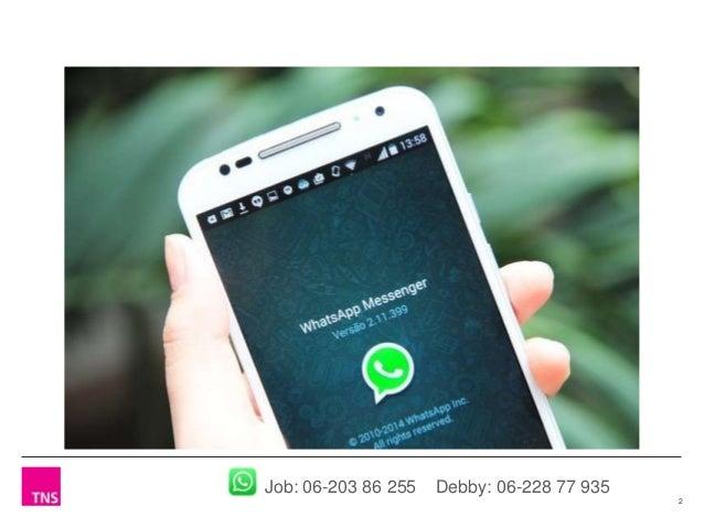 Whatsapp voor bedrijven - Perspectief van de consument op zakelijke inzet Slide 2