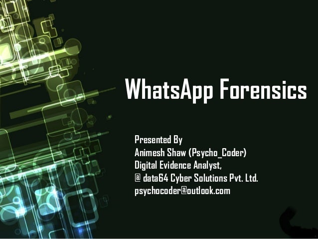 WhatsApp Forensic