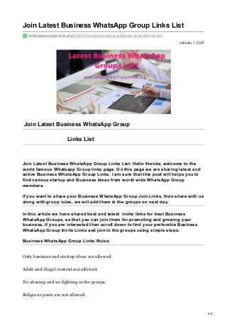 Whatsappgroupjoinlink Org Join Latest Business Whats App Group Links
