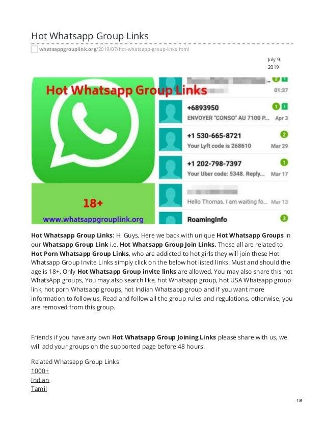 Hot whatsapp group links tamil