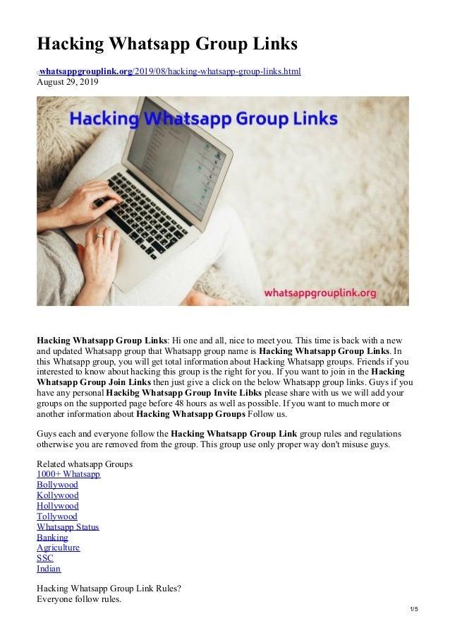 Whatsappgrouplinkorg Hacking Whatsapp Group Links