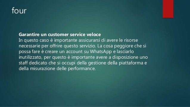 Qual è il vantaggio per l'utente? Come già detto per spingere l'utente ad entrare in contatto con l'azienda tramite WhatsA...