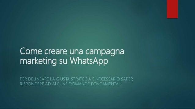 Come viene segmentato il pubblico? L'adozione di una strategia di segmentazione corretta permette di inviare contenuti di ...