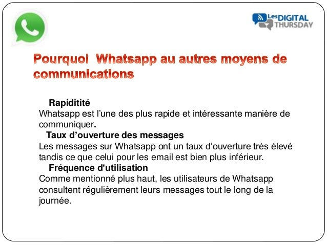 Whatsapp pour fideliser ces clients - #DigitalThursday #Edition8 Slide 3