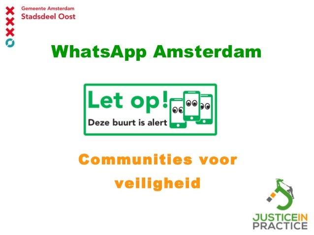 WhatsApp Amsterdam Communities voor veiligheid