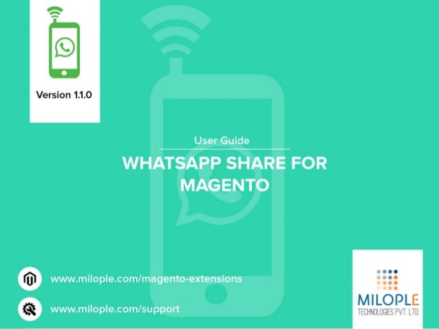 Using this Free version of WhatsApp share your customer can share or recommend the products via Chatting app WhatsApp