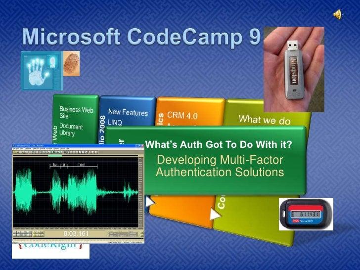 Microsoft CodeCamp 9 <br />