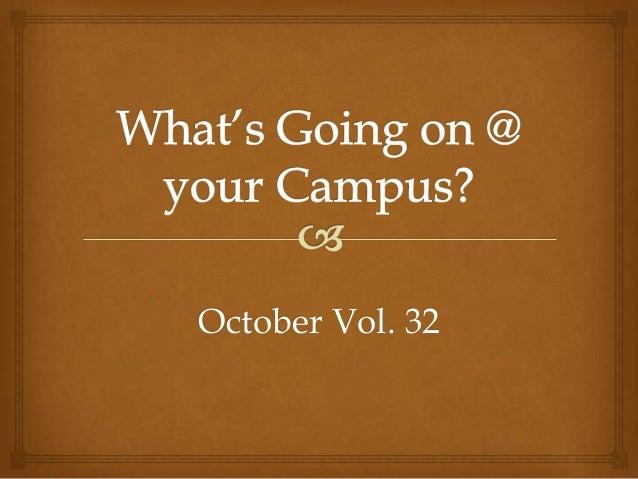 October Vol. 32