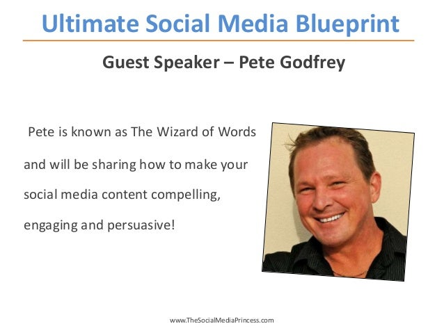 Guest Speaker – Pete Godfrey Pete is known as The Wizard of Words and will be sharing how to make your social media conten...