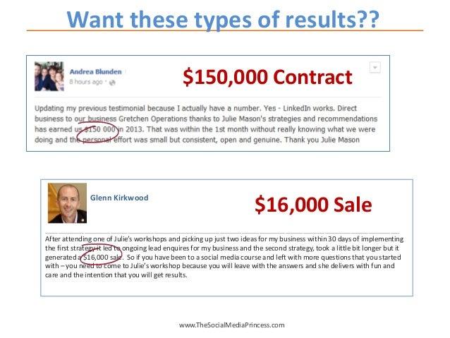 www.TheSocialMediaPrincess.com Want these types of results?? Glenn Kirkwood ______________________________________________...
