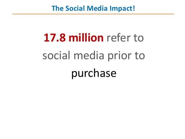 17.8 million refer to social media prior to purchase The Social Media Impact!