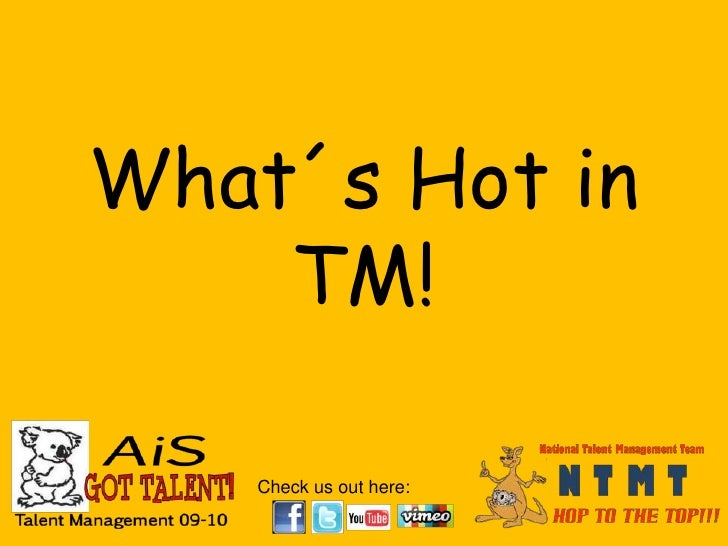 What´s Hot in TM!<br />
