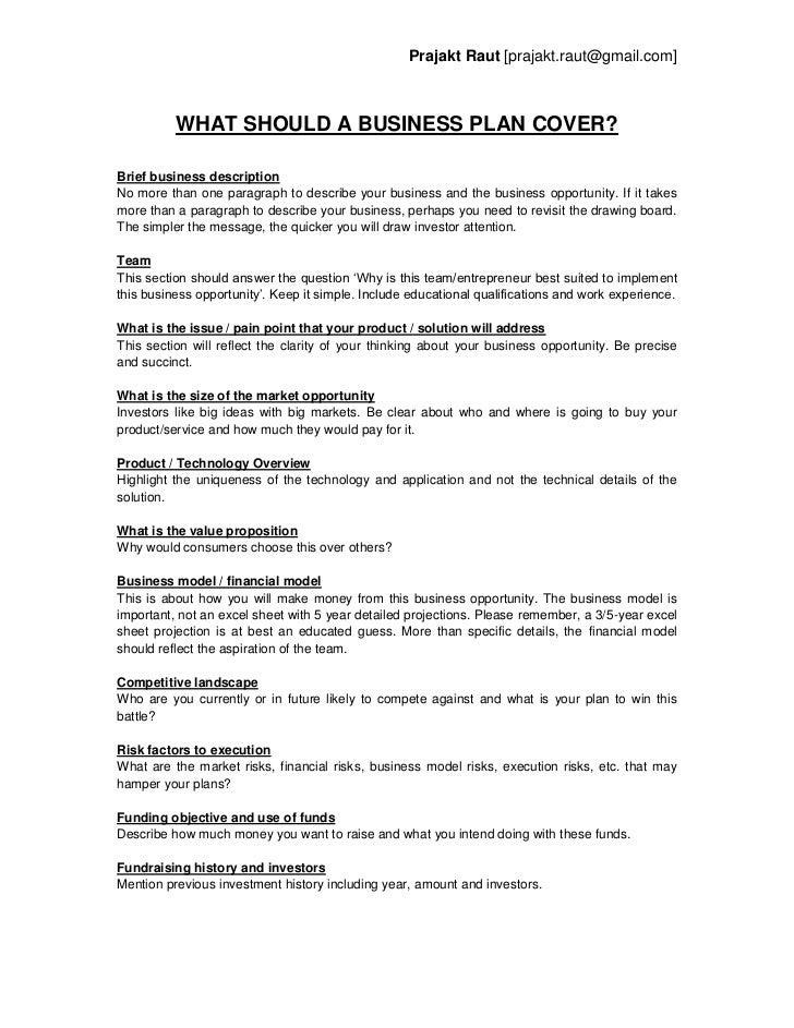 brief business plan