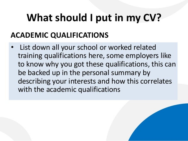 building your curriculum vitae