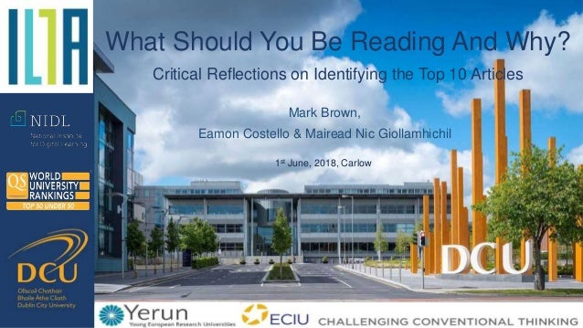 Mark Brown, Eamon Costello & Mairead Nic Giollamhichil What Should You Be Reading And Why? Critical Reflections on Identif...