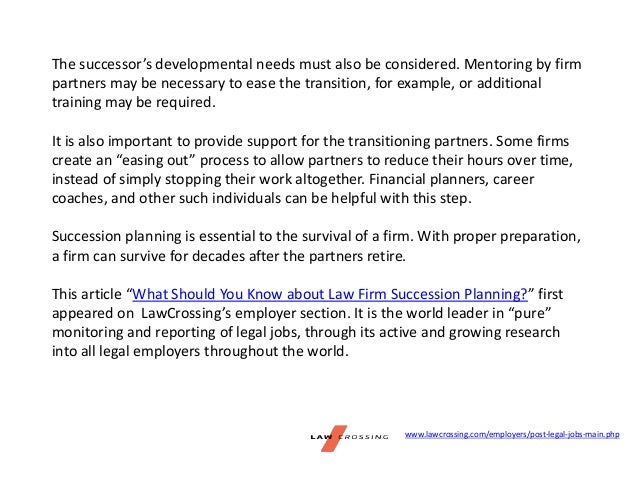 What Should You Know About Law Firm Succession Planning - Law firm succession plan template