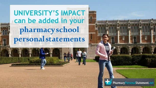 say in my personal statement pharmacy school