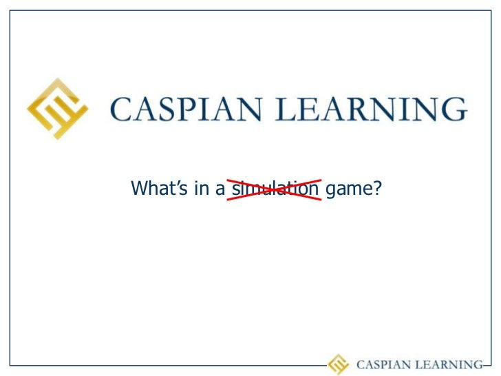 What's in a simulation game?<br />