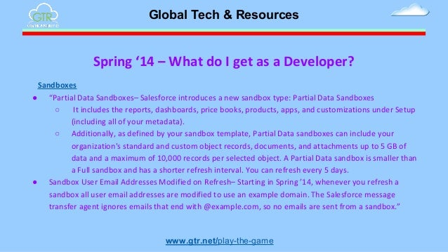 What 39 s in spring 39 14 release for me for Salesforce sandbox template