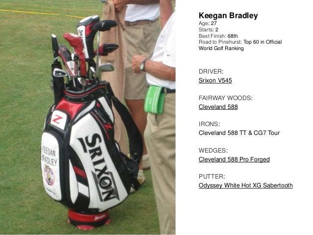 Keegan Bradley Age: 27 Starts: 2 Best Finish: 68th Road to Pinehurst: Top 60 in Official World Golf Ranking DRIVER: Srixon...