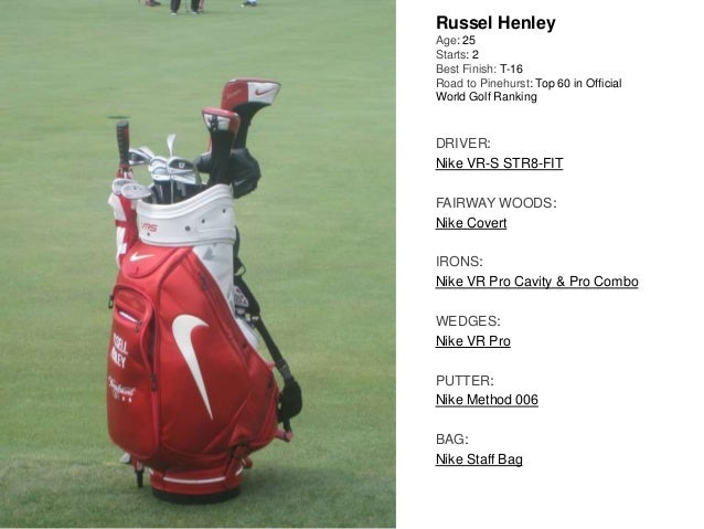 Russel Henley Age: 25 Starts: 2 Best Finish: T-16 Road to Pinehurst: Top 60 in Official World Golf Ranking DRIVER: Nike VR...