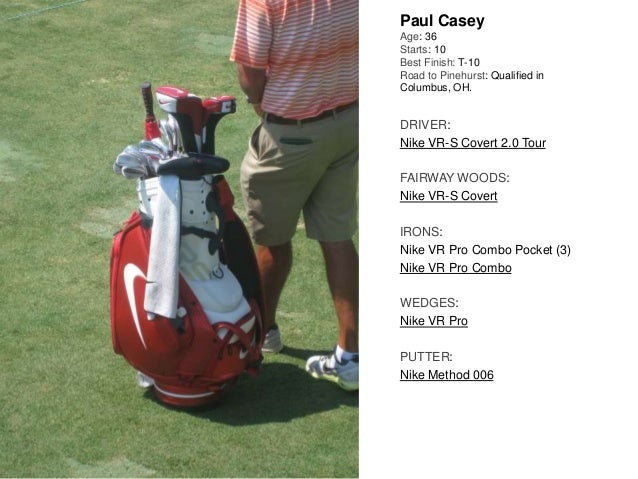 Paul Casey Age: 36 Starts: 10 Best Finish: T-10 Road to Pinehurst: Qualified in Columbus, OH. DRIVER: Nike VR-S Covert 2.0...