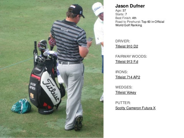 Jason Dufner Age: 37 Starts: 7 Best Finish: 4th Road to Pinehurst: Top 60 in Official World Golf Ranking DRIVER: Titleist ...