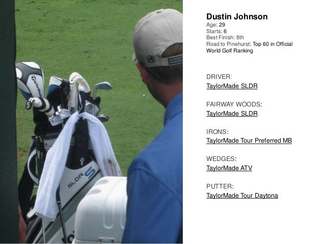 Dustin Johnson Age: 29 Starts: 6 Best Finish: 8th Road to Pinehurst: Top 60 in Official World Golf Ranking DRIVER: TaylorM...