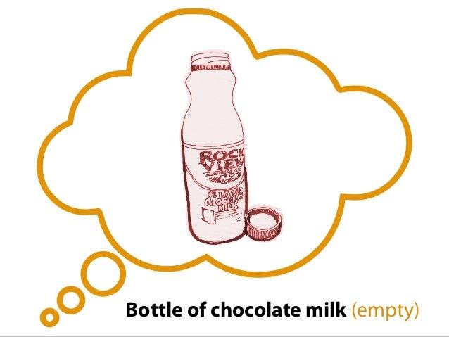 Bottle of chocolate milk (empty)