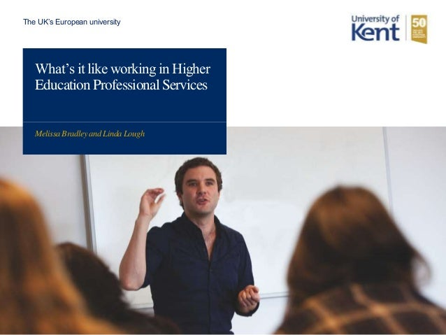 working in higher education