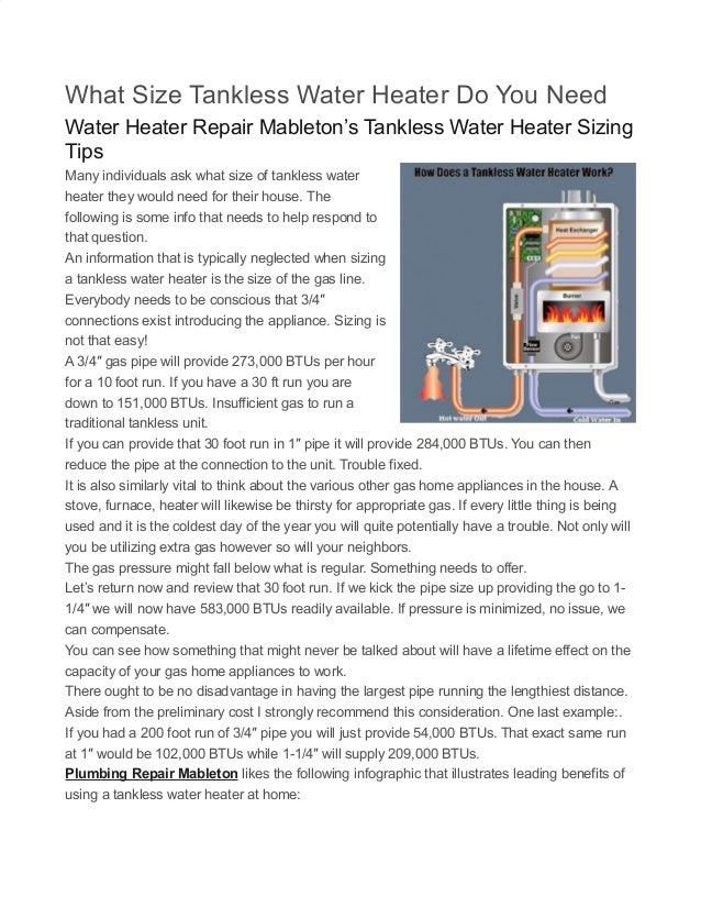 What Size Tankless Water Heater do you Need