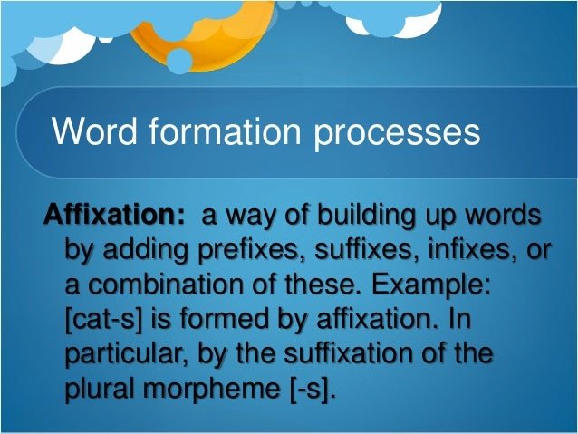 Word Formation Compounding - 0425