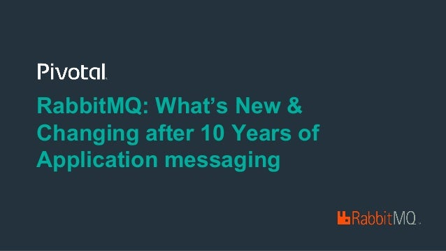 RabbitMQ: What's New & Changing after 10 Years of Application messaging